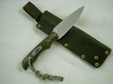 Triple-X Knives One Off Custom North Pro Knife, CANX60 Steel, Camo Spectra Ply