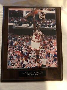Michael Jordan Plaque 1991 MVP Photo & Plaque