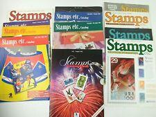 Stamps Etc. Catalogs Lot 10 1992 1993 1994 Elvis Space Olympics Soccer Hockey J3