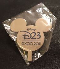 Disney Pin 86354 D23 Expo 2011 Auctioneer Package Pin~Mickey Paddle~Silver Tone