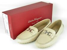 SALVATORE FERRAGAMO FLORENCE GANCINI Driving Moccasins Loafers Men's Shoes 9M