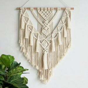 Handmade Boho Wall Decor Macrame Tapestry Hanging Large Woven Art For Home Party