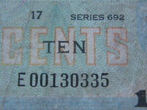 10 Cents Military Payment Certificate 681 Replacement (See Photos) (Rare)