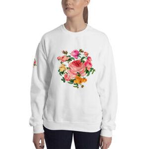 Unisex Sweatshirt Bouquet of roses Garland of flowers Large rose wreath