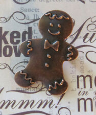 Ginger Bread Man Pin Copper Gingerbread Boy Christmas Holiday Cookie