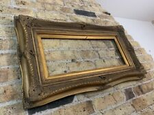 Rococo / Baroque Gold Gilt & Gesso Detail Wooden Picture Frame, Chunky, Large