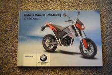 2007 BMW G 650 Xmoto MOTORCYCLE OWNERS RIDERS MANUAL -G 650 X moto-G650 Xmoto