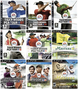 Tiger Woods PGA Tour 09 10 11 12 13 The Masters PlayStation 3 PS3 Golf Games