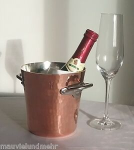 Mauviel Copper Champagne Ice Bucket Piccolo Anthracite-Coated Hammered 2709.05