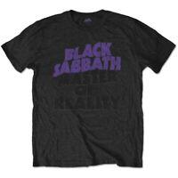 Official Black Sabbath T Shirt Master of Reality Mens Classic Rock Metal Band