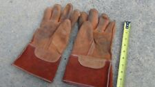 Salisbury Type Linemans Gloves Size 10 Rubber Inners Amp 2 X Leathers Xlnt