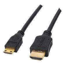 HDMI Standard To HDMI Mini Lead 1.5Mtr Camera LCD H/D 1080P Gold