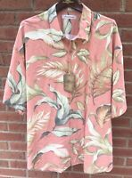 $125 TOMMY BAHAMA MEN LEAFING IN THE WIND HAWAIIAN ALOHA SILK CAMP SHIRT XXL 2XL