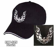 New Black Pontiac Firebird Trans Am Logo Emblem Liquid Metal Hat Cap