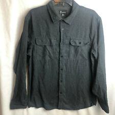 Burnside Mens Flannel Shirt XL Long Sleeve Button Gray