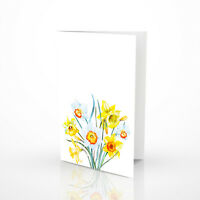 Greetings Cards / Thank You Blank Cards / Pack of 5 Flower Design Notelets