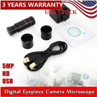 5MP USB 2.0 HD 30FPS Digital Eyepiece Camera Stereo Binocular Microscope USA New