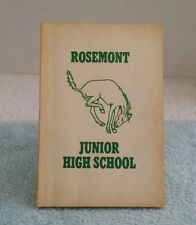 Rosemont Junior High School Yearbook 1958 Bronco Fort Worth TX Middle Vintage