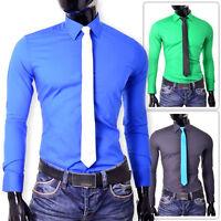 New Italian Design Shirt Smart Slim Fit Formal Cotton Party Clubbing S-4XL Vivid