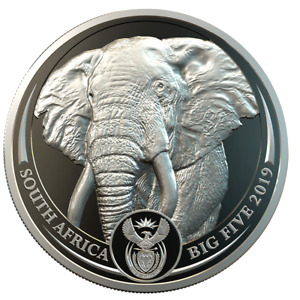 Südafrika - 20 Rand 2019 - Elefant - Big Five Serie (1.) - 1 Oz Platin PP