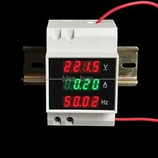 AC 110V 220V 100A Din-rail digital LED AC Voltmeter Amperemeter Frequenzmesser