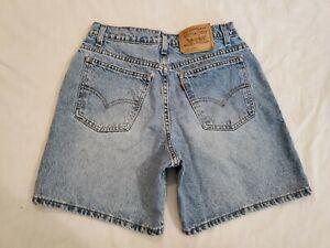 VTG Levi's 37967 Orange Tag Blank Tab High Rise Denim Jean Shorts Size 30 Waist