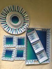 7 Piece Melamine Hostess Set - White/Blue/Green