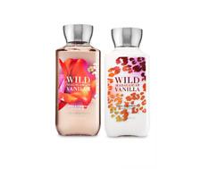 New Bath and Body Works Wild Madagascar Vanilla Shower Gel Lotion 2 Piece Set