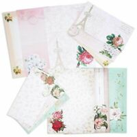 "60 Sheets One Sided Vintage Floral Letter Stationery 10.2x7.25""+30 Envelopes"