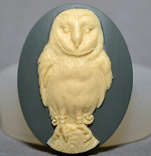 OWL Cameo - silicone mould Cupcake polymer clay chocolate resin fimo mold