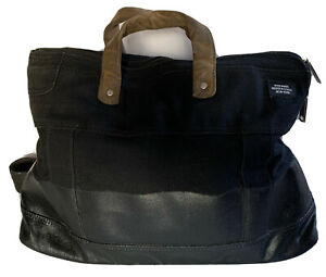 JACK SPADE Warren St. Dipped Industrial Canvas Tote Weekender Bag Crossbody