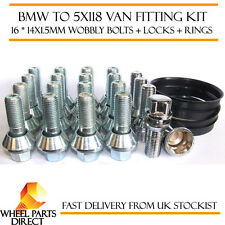 BMW Wheels to 5x118 Vivaro Trafic Primastar Ducato Fitting Kit Bolts Locks Rings