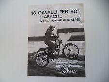 advertising Pubblicità 1971 MOTO ASPES APACHE 125 REGOLARITA'