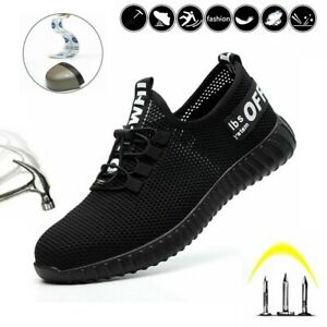 Men Mesh Safety Shoes Women Lightweight Trainers Steel Toe Cap Work Hiking Boots