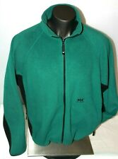 VINTAGE Helly Hansen Fleece Jacket Men's sz Extra Large XL Green Black Full Zip