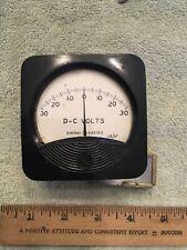 Vintage Radio Panel Meter Ge Dc Volts Center Scale 0 30 1 Kv Me530