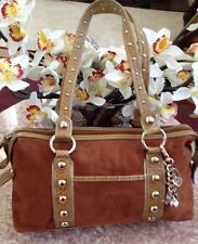 Gena De Rossi Brown Satchel Shoulder Handbag