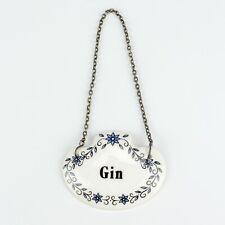 Vintage Sheer Elegance Fine Bone China - Gin Decanter Drinks Label - Lovely!