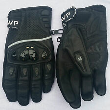 Short Protective Soft Leather Quality Motorbike Motorcycle Scotter Qlty Gloves