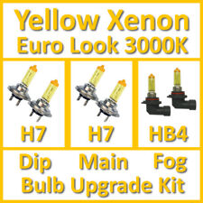 Warm White 3000K Yellow Xenon Headlight Bulb Set Main Dip Fog H7 H7 HB4 Kit