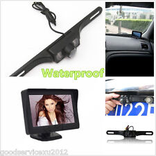 IR Night Vision Car CMOS Rearview License Plate Reversing Camera LCD Monitor Kit