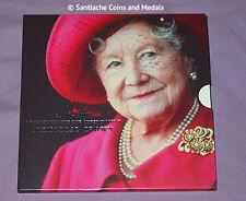 2002 royal mint spécimen reine mère £ 5 memorial de la couronne dans le dossier