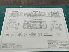 Mercedes W124 Limousine Blueprint / Konstruktionszeichnung