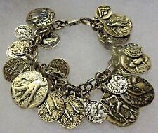 SILPADA Sterling Silver Iconic Roman Coin Cha Cha Bracelet B1624 Ret $349+ EUC