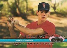 SHAWN GREEN 1991 Stadium Club Dome DRAFT PICKS #67 ROOKIE CARD RC Blue JAYS !