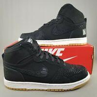 Nike Mens Big Nike High Lux Snake Basketball Shoes SZ 11.5 Athletic Black White