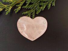 Rose Quartz Crystal Puff Heart - 32mm - Gemstone, Tumblestone - Love & Fertility