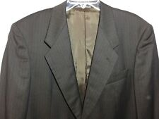 MANI by Girogio Armani Canada Made 40R 100% Wool Black Pinstripe Blazer Suit Ct