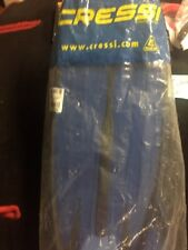 Cressy Pro Light Blue Diving Fins Size 7/8, NEW