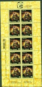 New Zealand. 1996. MMP Voteing. Sheet. MUH.